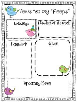 Bird Themed Monthly Newsletter {Editable}