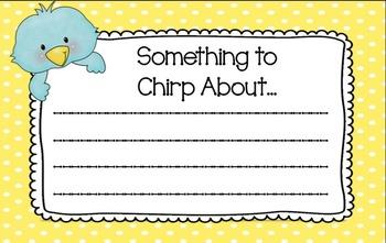 Bird-Themed Notes from Teacher *FREEBIE!*