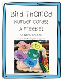Bird Themed Number Cards