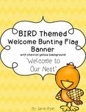 Bird Themed Welcome Banner
