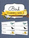 Bird Vocabulary Cards and Spelling Practice