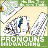 Bird Watching He and She File Folder Activity