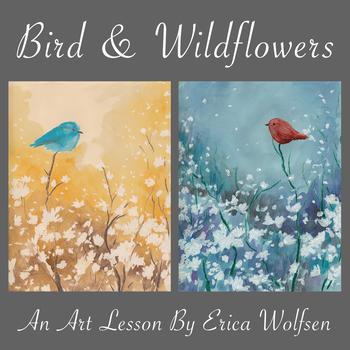 Bird & Wildflowers