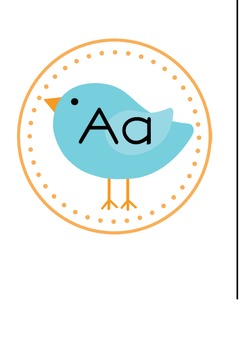 Bird Word Wall Letters