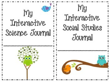 Interactive Journal Covers: Bird and Owl Themed