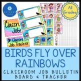 Bird and Rainbow Classroom Décor Rainbow Classroom Jobs an