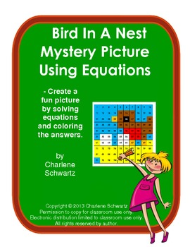 March Bird in a Nest Mystery Picture Using Equations