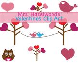 Bird on A Line, Valentine, Clip Art, Owl, Heart, Tree, Lov