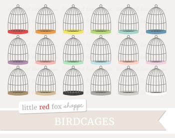 Birdcage Clipart; Bird Cage, Pet, Animal