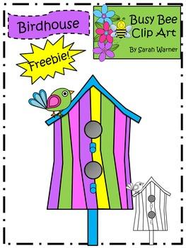 Birdhouse Clip Art Freebie! {By Busy Bee Clip Art}