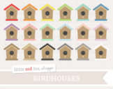Birdhouse Clipart; Bird House, Nature, Garden, Gardening, Bird Feeder