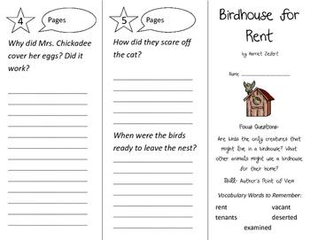Birdhouse For Rent Trifold - Imagine It 2nd Grade Unit 2 Week 4