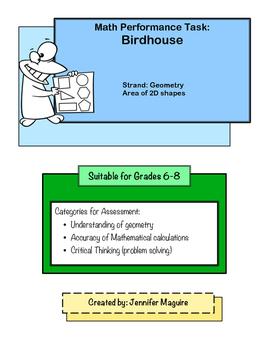Birdhouse Geometry Project - NO clipart version