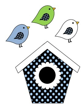 Birdhouse Job Assignment Bulletin Board (blue & green)
