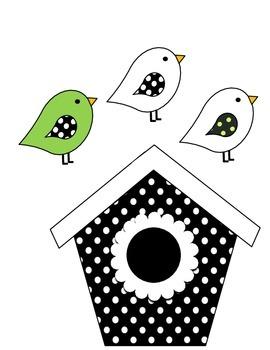 Birdhouse Job Assignment Bulletin Board (green accents)