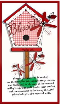 Birdhouse Psalms119:1