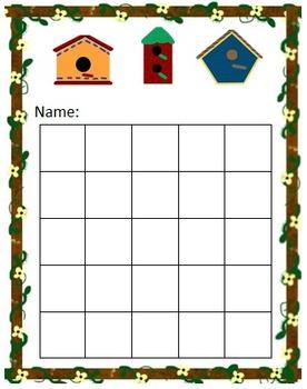Birdhouse Sticker Chart