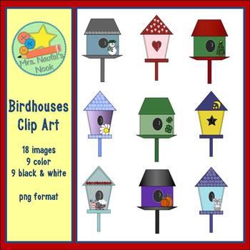 Birdhouses Clip Art
