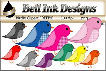 Birdie Clipart FREEBIE