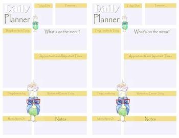 Birdie Half size Daily Planner