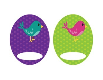 Birdie Labels, Bright Polka Dots