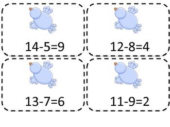 Birdie Number Lines Addition & Subtraction
