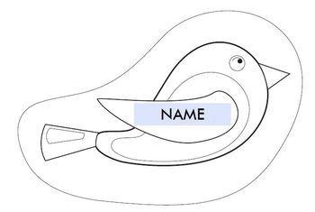 Birdie printable activities door theme decor