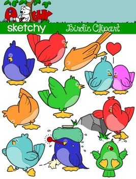 Birdies / Birds / Bird Clip art - Graphics