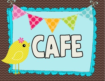 Birdies & Bunting CAFE Signs
