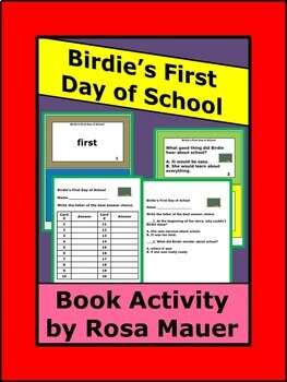 Birdie's First Day of School Literacy Activities