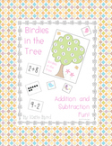 Addition, Subtraction, and Number game - Birdies in the Tree