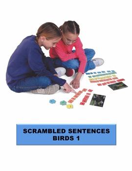 Birds 1 Scrambled Sentences Manipulatives