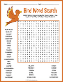 All About Birds Word Search