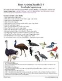 Birds Activity Bundle (K-5)
