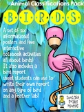 Birds - Animal Classifications Pack - Posters & Notebook pages