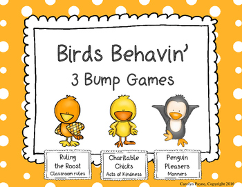 Classroom Management:  Birds Behavin' 3 Bump Games