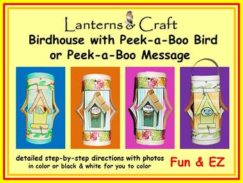 Birds! Birds! Birds! * Peek-a-boo Birdhouse * Fun & EZ Craft