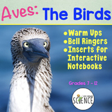 Birds Class Aves Warm Ups Interactive Notebook Pages Bell Ringers
