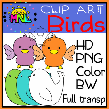 Birds Clip Art - Baby & Mama