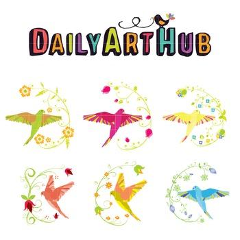 Birds Clip Art - Great for Art Class Projects!