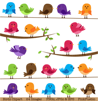 Birds Clipart and Vectors - Commercial and Personal Use
