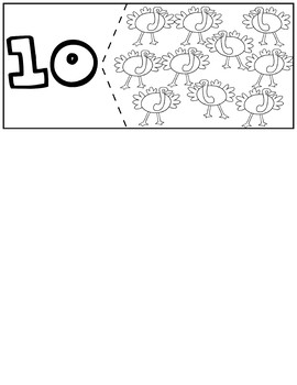 Birds Coloring Quantity Puzzles   Numbers 1-10