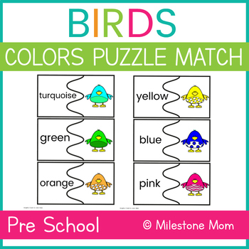 Birds Colors Puzzle Match