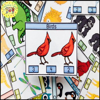 Birds Count and Clip Task Cards