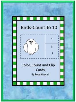 Birds Count to 10 Count and Clip Cards