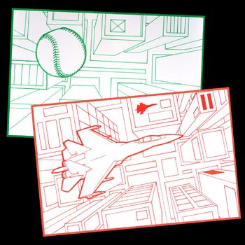 Bird's Eye View 1-Point Perspective Drawing