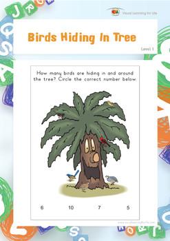Birds Hiding in Tree