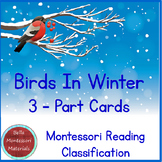 Birds In Winter - 3 - Part Cards