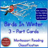 Birds In Winter - 3 - Part Cards PLUS Booklet