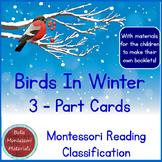 Birds In Winter - 3 - Part Cards PLUS Booklet